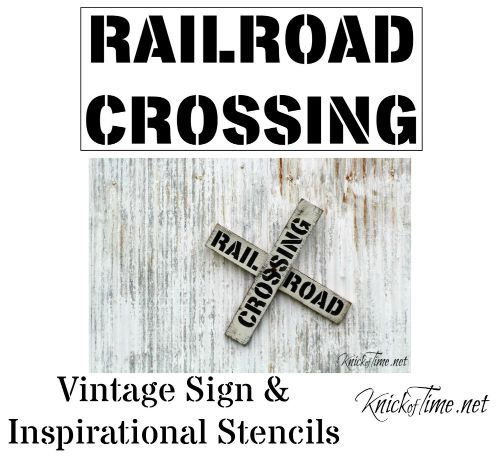 railroad sign stencil