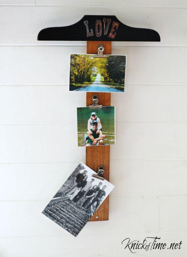 repurposed tool photo display