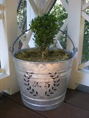 galvaized bucket