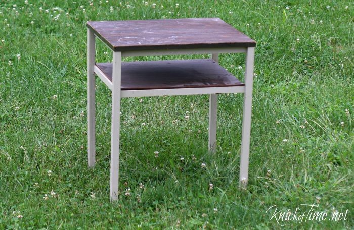 thrift store side table 1