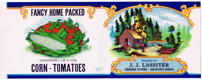 Antique Grocery Can Label - Knick of Time