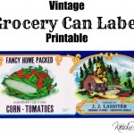 antique grocery can label