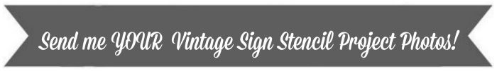 vintage sign stencil projects banner
