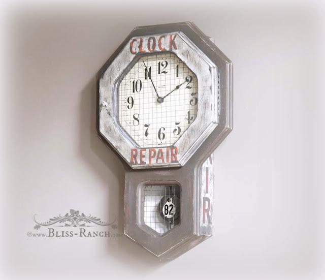 vintage clock sign