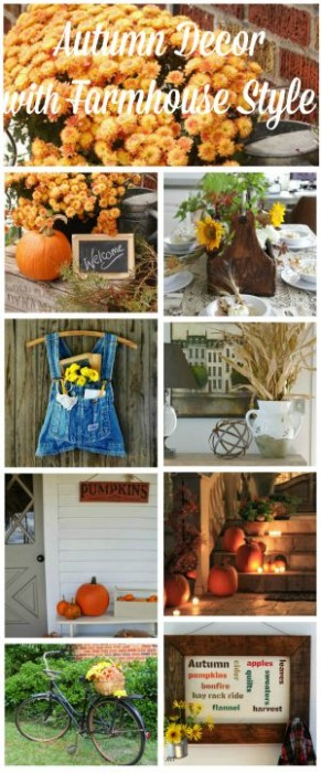 Autumn Decor with farmhouse style - natural elements, rustic and vintage decor, DIY projects and more via KnickofTime.net