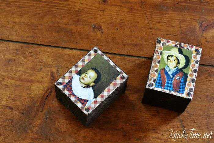 children's photo display blocks