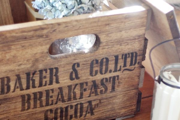 Old Shipping Crate – New Stencil Design!