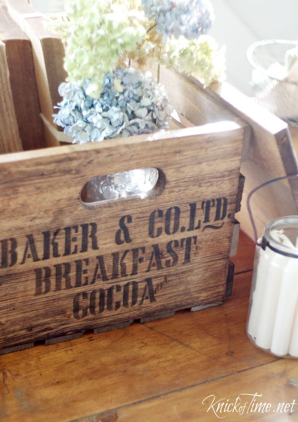 DIY antique shipping crate - KnickofTime.net