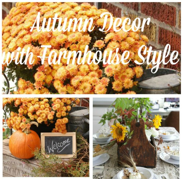 Farmhouse autumn decor - KnickofTime.net