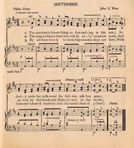 September Music Page Printable