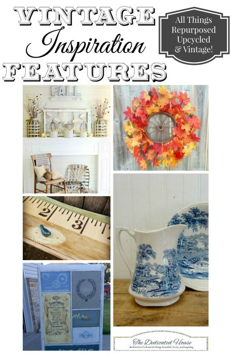 Autumn Home Decor and DIY Projects at the Vintage Inspiration Party at KnickofTime.net