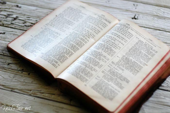 antique Bible pages