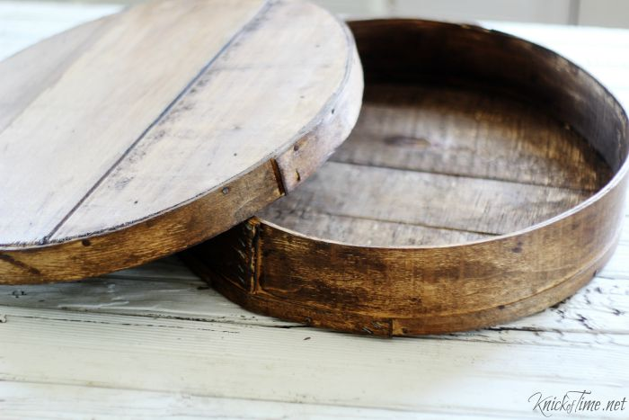 antique round cheese box