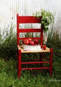 apple red chair - KnickofTime.net