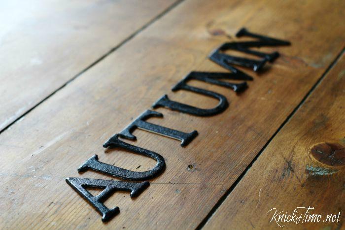 autumn chipboard letters - KnickofTime.net