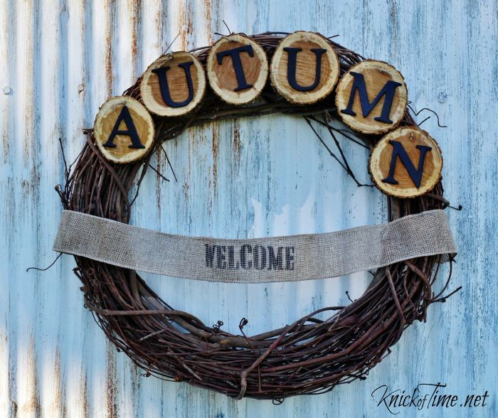 autumn wreath - KnickofTime.net