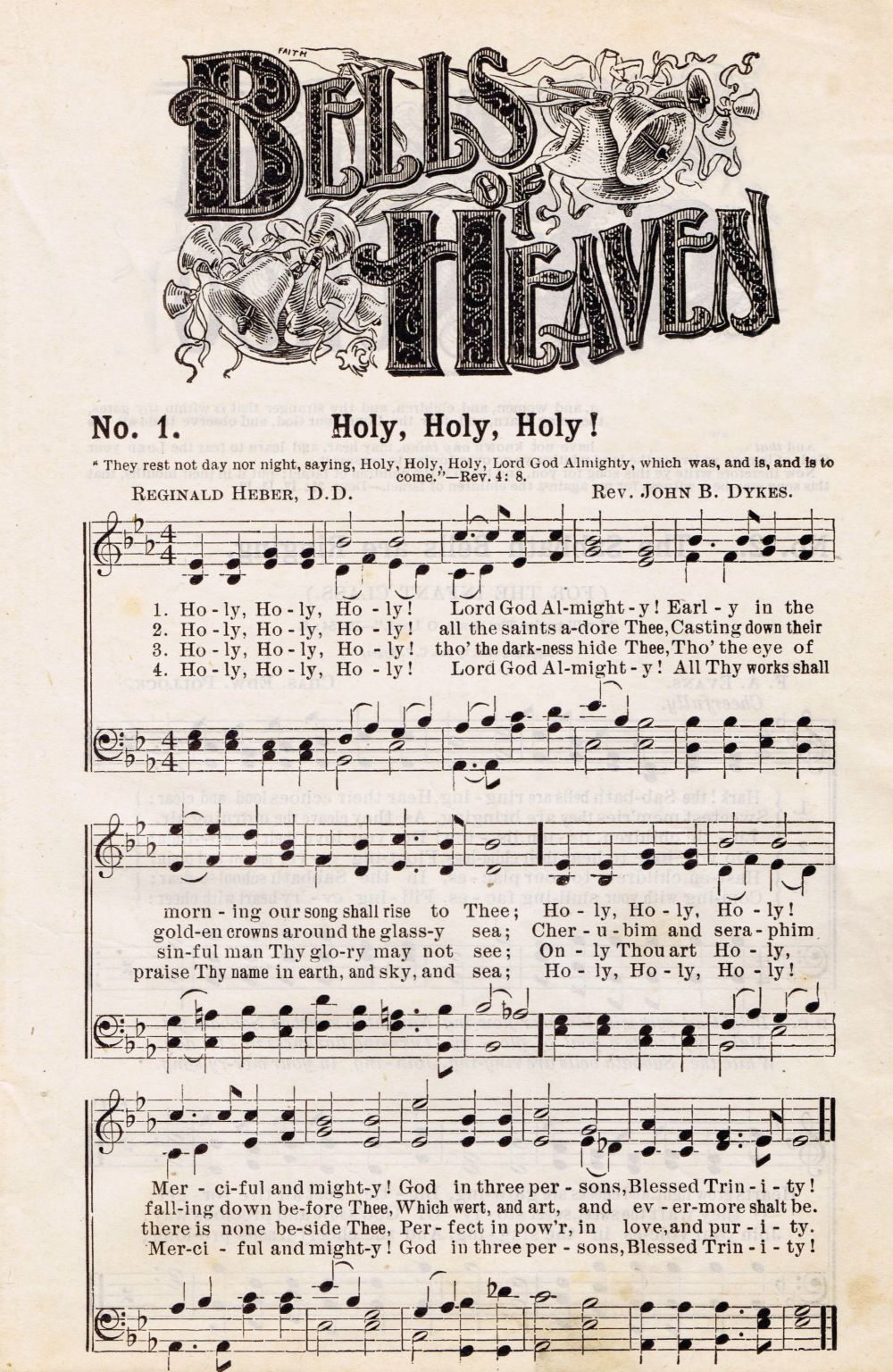 bells of heaven hymn music page