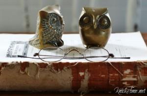 brass owl paper weights - KnickofTime.net