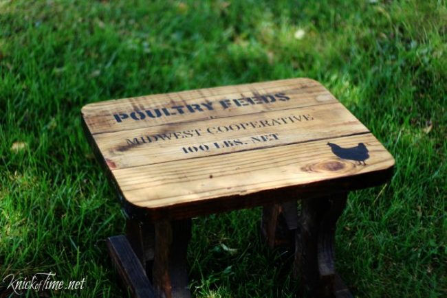 farmhouse style rustic bench via KnickofTime.net