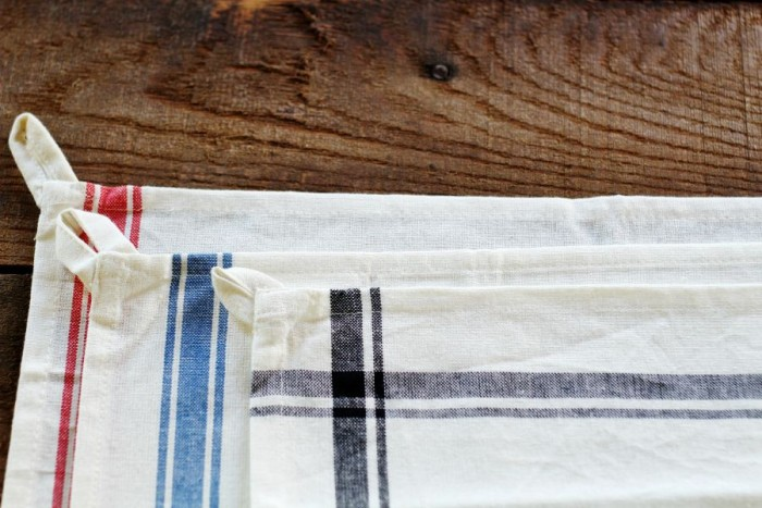 grainsack stripe farmhouse towels - KnickofTime.net