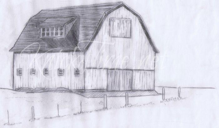 hand drawn barn sketch - KnickofTime.net