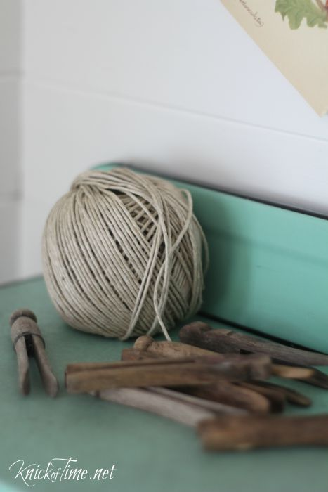 old clothes pins and twine - KnickofTime.net