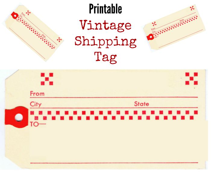 Youll Find More Free Printable Vintage Shipping Tags HERE Christmas