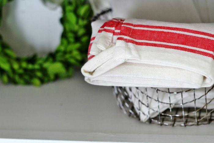 grain sack stripe towel - KnickofTime.net