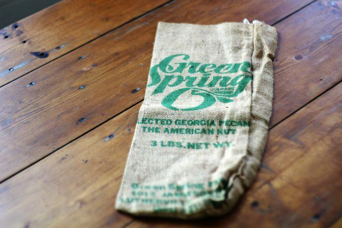 burlap fabric sack