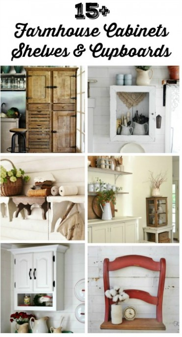 DIY Farmhouse Cabinets Farmhouse Shelves Farmhouse Cupboards