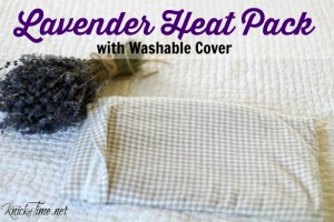 Flannel Lavender Heat Pack with Washable Cover