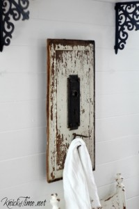 Chippy Door  and Salvaged Hardware Wall Hook