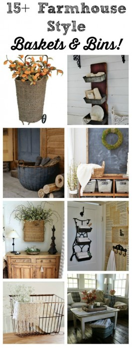 Storage Baskets and Bins with Farmhouse Style - KnickofTime.net