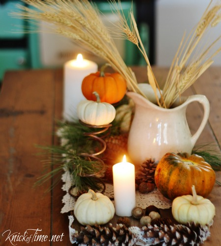 Rustic Autumn Table Centerpiece - KnickofTime.net