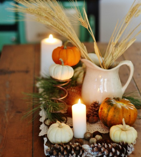Inexpensive rustic fall centerpiece home for