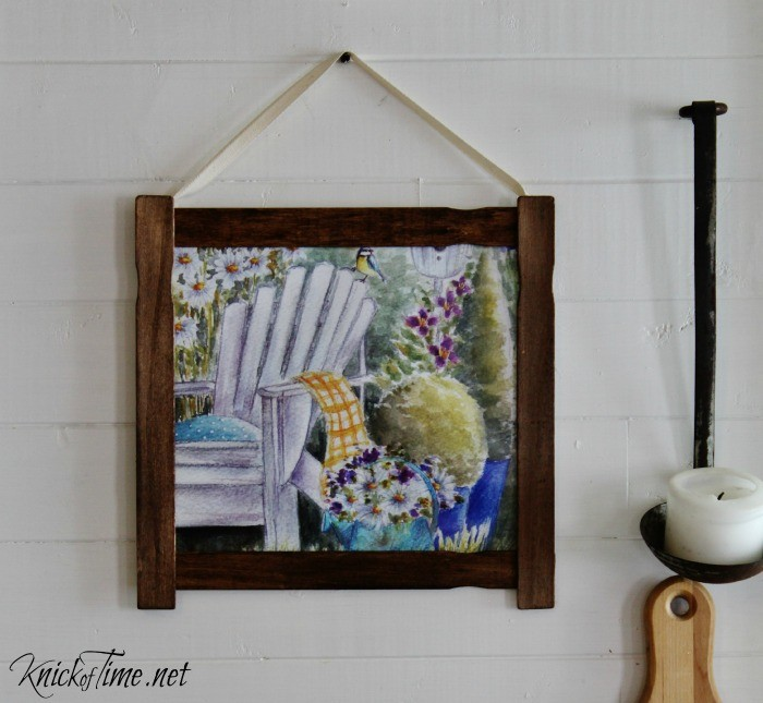Make your own easy DIY Farmhouse Wall Art in about 5 minutes, with this cheater method tutorial - KnickofTime.net
