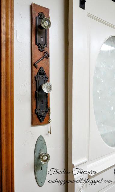 Antique Doorknobs display