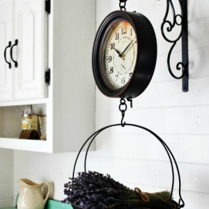 Hanging Grocery Scale Clock - KnickofTime.net