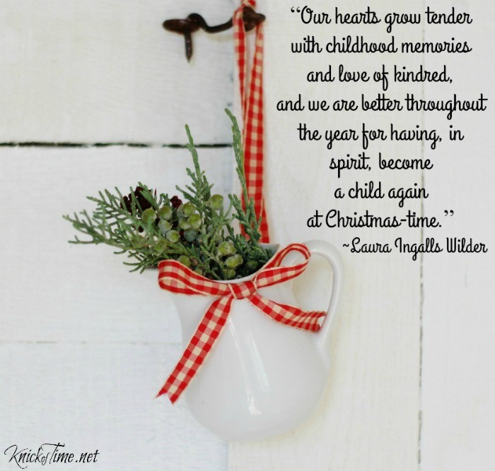 Laura Ingalls Wilder Christmas Quote - KnickofTime.net