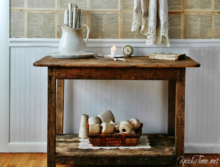 Antique Wooden Table - KnickofTime.net