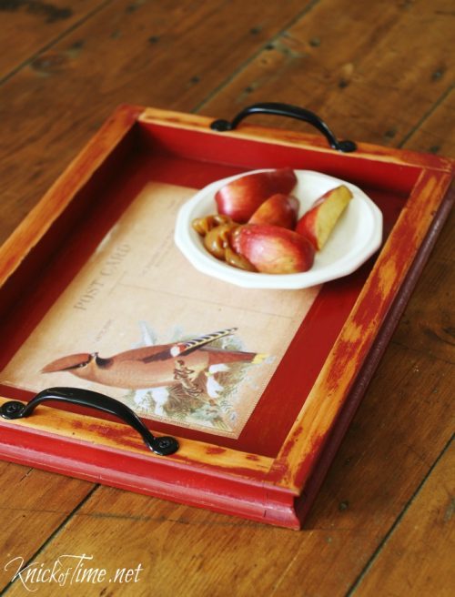 Repurposed Wood Frame Tray