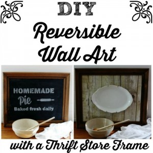 Chalkboard and Weathered Wood Reversible Wall Art