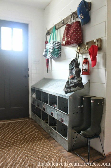 Farmhouse Entryway Mudroom