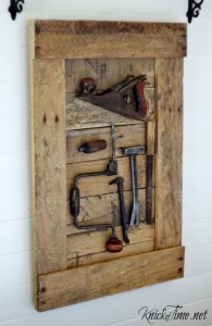 antique tools display