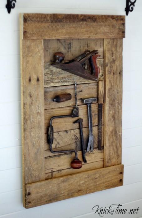 antique tools display