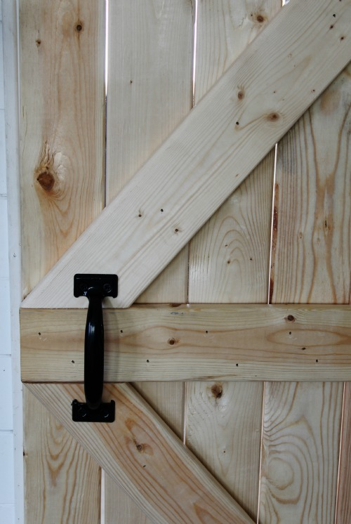 Black Barn Door Handle