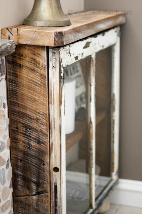 Barn Wood Window Cabinet