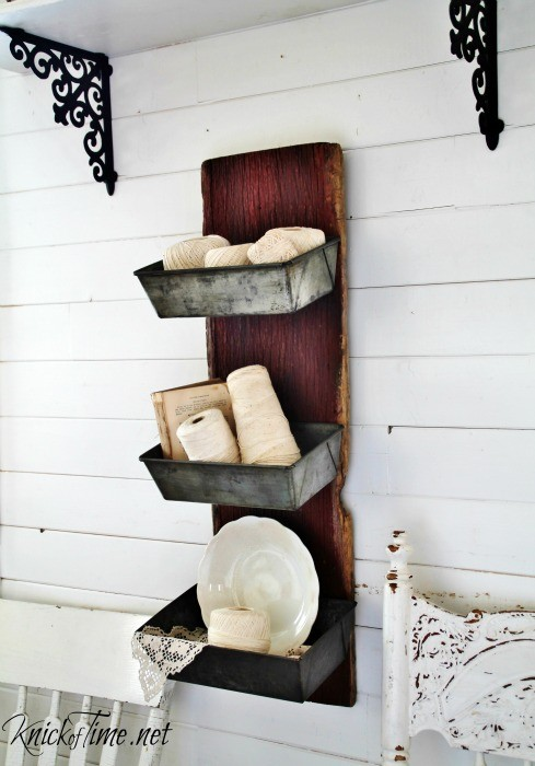 barn wood wall bins