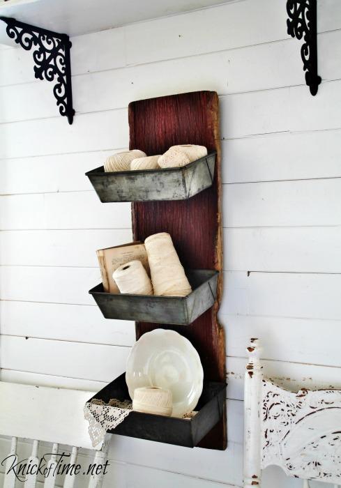 barn wood bread tins wall bins