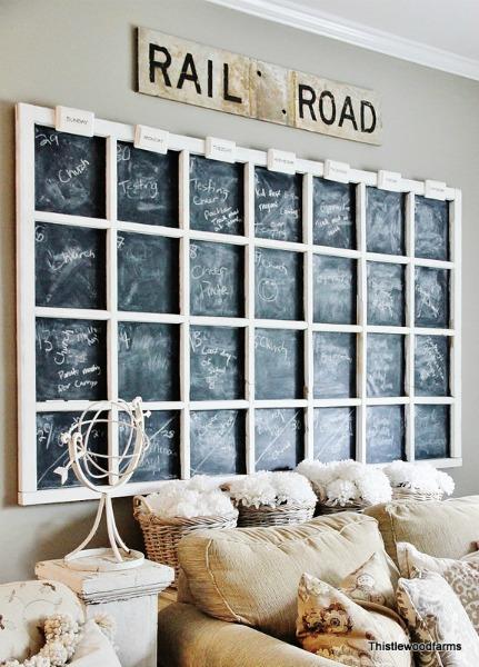 repurposed window calendar